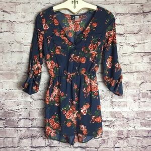 H&M floral romper with pockets